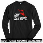 Run San Diego V3 Long Sleeve T-shirt - LS Men S-4X - Running Jogging Runner Cali