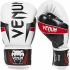 Venum Elite Boxing Gloves Ice White/Black/Red Muay Thai MMA BJJ Muay Thai Mitts