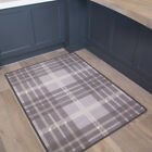 New Luna Tartan Grey Non Slip Area Rug Mat Floor Home Small Large Runner Doormat