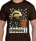 Black Cat Halloween Shirt - Pumpkin Sale - Full Moon & Stars - Small - 5X