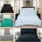 Striped 1000TC Luxury Duvet/Doona/Quilt Cover Set Queen/King/Super King Size Bed image