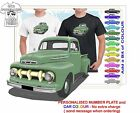 CLASSIC 1951 FORD PICKUP TRUCK ILLUSTRATED T-SHIRT MUSCLE RETRO SPORT CAR