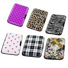 Aluminum Women Wallet RFID Blocking Credit Card Case Holder Crash Proof  Printed image