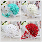 Artificial Bouquet Silk Ribbon Lace Bouquet Bridal Bridesmaid Wedding Decoration