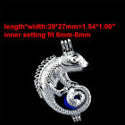 Pearl Oyster Bead Cage ---  Mix 242pcs Style Silver Locket Cage Pendant U Pick