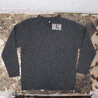 New Calvin Klein Wool Knit V Neck Jumper in Grey Size XXL BNWT RRP £95 Vintage