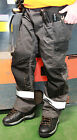 Safety Work Trousers Multi Pocket Hymac Heavy Duty Hi Vis Grey Black Cordura NEW