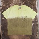 New Bent & Corrupt Dyed Green V Neck T Shirt With Floral Print Size XL NWOT