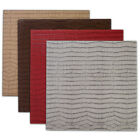 """Crocodile Faux Leather Square Kitchen, Dining Table Placemat Set 13"""" x 13"""""""
