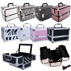 9'/14' Handle Aluminum Makeup Train Case Jewelry Box Cosmetic Organizer Storage