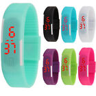 Fashion Unisex Colorful LED Silica Gel Jelly Bracelet Wrist Watch