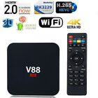 V88 4K Android 6.0 Smart TV BOX RK3229 Quad Core 8GB HD 1080P WIFI With Keyboard