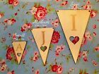 Wooden Bunting - Personalised Party Decorations Banners - Wedding Baby Showers