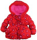 Platinum Toddler Girls Floral Print Hooded Puffer Winter Jacket Coat with Bow