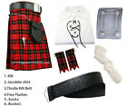 Scottish Wallace Tartan Kilt Outfit Package of 6 (Six) Pieces