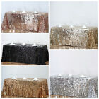 "90x132"" Large Payette Sequin Rectangular Tablecloth Wedding Party Dinner Linens"