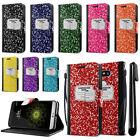 For LG G5 H850 VS987 Composition Book Design Wallet Cover Pouch Case Stand + Pen