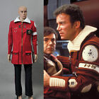 Star Trek II The Wrath of Khan Admiral Kirk Field Red Coat Pants Cosplay Costume