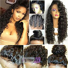 180% Density Pre Plucked 360 Lace Frontal Wigs Water Wave Human Hair Lace Wigs