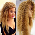 6A 100% Brazilian Remy Human Hair Blonde Kinky Curly Full Lace Lace Front Wigs