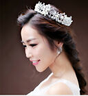 Beauty Women Pearl Tiara Birthday Party Prom Crystal Head Crown Hair Jewerly Hot