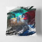 Faux Suede Throw Scatter Cushion Eagle Bird (2) V2