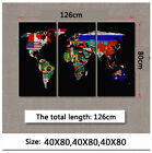 World map decorative painting retro style office hanging picture company hotel