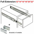 full 22 - 12-22in Full Extension Drawer Slides/Glides Ball Bearing Heavy Duty Side Mount
