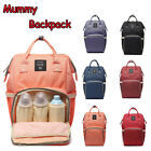 Mummy Maternity Nappy Diaper Bag Baby Nursing Large Capacity Travel Backpack