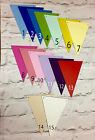 PRE PAINTED WOODEN BUNTING TRIANGLES TO EXCELLENT SMOOTH FINISH APROX 10X15CM