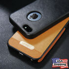 Luxury Slim Hybrid PU Leather Soft TPU Shockproof Case Cover For iPhone 5 5s SE