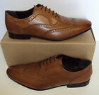 Kyпить Men's ex M&S New Formal Tan Lace Up 100% Leather Brogues Shoes Size UK 7 8 9 на еВаy.соm