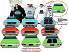 71-74 HQ HOLDEN SEDAN FRONT & BACK HOODIE ILLUSTRATED CLASSIC RETRO MUSCLE CAR