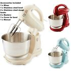 12 Speed Food Stand Mixer 400w  4L Stainless Steel Bowl 2 Dough Hooks 2 Beaters