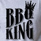 BBQ KING summer tailgate grilling smoking barbeque meat pork beef crown T-Shirt