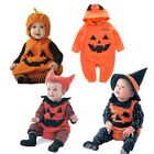 Baby Boy Girl Halloween Pumpkin Costume Outfit Fancy Dress Clothes Romper Set