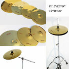 8''-20'' Gold Stagg Brass Shelf Drum Cushion Cymbals Hi-hat Crash Ride Drum Set