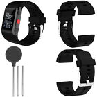 Black Premium Silicone Bracelet Wrist Strap Band for Polar V800 HR Watch + Tools