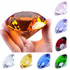LONGWIN 80mm Crystal Diamond Paperweight Solid Color Wedding Gifts 3.15