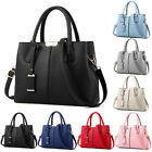 Leather Woman Tote Handbag Shoulder Cross Body Messenger Bag Lady Satchel Purse  image