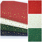 Christmas Fabric Tiny Gold stars sold per 1/2 Metre or Fat quarter 100% cotton