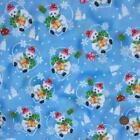 Christmas Fabric Blue Teddies sold per 1/2 Metre / Fat quarter 100% cotton