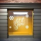 Let It Snow Christmas Shop Window Display Sticker, Florist, Gift or Coffee Shop