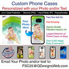 Custom Personalized Photo Picture Logo Phone Case Gift for iPhone 7 Samsung 7 LG