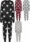 New Womens Star Print Sweatshirt Joggers Tracksuit Set Ladies Loungewear Set