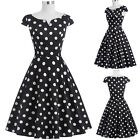 Woman Retro Vintage Polka Dots Party Cocktail Prom Housewife Pinup Swing Dress