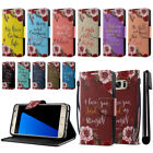 For Samsung Galaxy S7 G930 Bible Verses Design Wallet Cover Case Kickstand + Pen