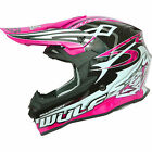 WULFSPORT ADULTS SCEPTRE PINK MOTOCROSS ATV QUAD MX OFF ROAD HELMETS SIZE M