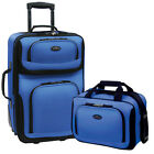 U.S. Traveler Rio 2-Piece Carry-On Luggage Set, Multiple Colors фото