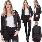 New Womens Brave Soul Polyester Metal Zipped Bomber Jacket Size 8 10 12 14 16